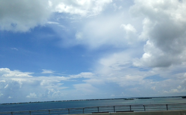 My view of the Indian River as I walked over the Bridge towards Hutchinson Island one day during my lunch break.